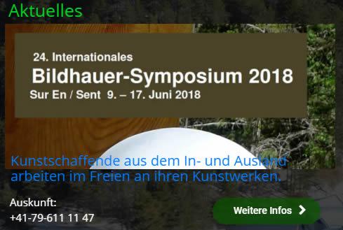 Bildhauer Symposium Sur En Sent 2018